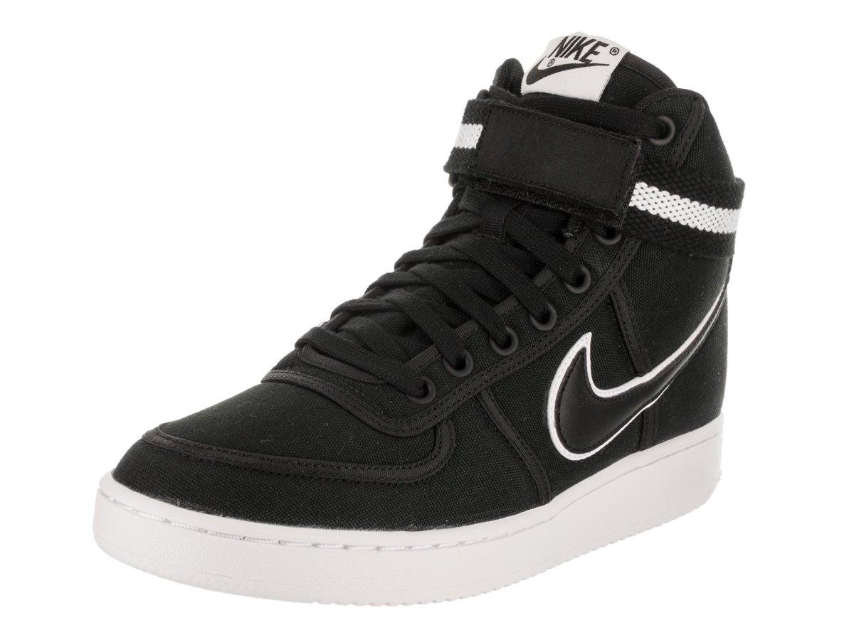 NIKE Women's Vandal Hi Black/Black/White Basketball Shoe 9 Women US