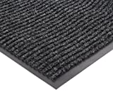 NoTrax 109 Brush Step Entrance Mat, for Lobbies and Indoor Entranceways, 4' Width x 6' Length x 3/8'' Thickness, Charcoal