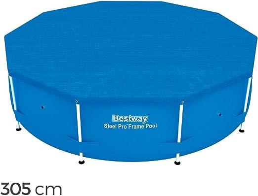 58036 Cubierta para piscina sobre tierra Bestway lámina ...