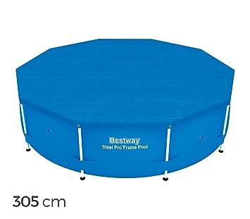58036 Cubierta para piscina sobre tierra Bestway lámina polietileno de 305 cm: Amazon.es: Jardín