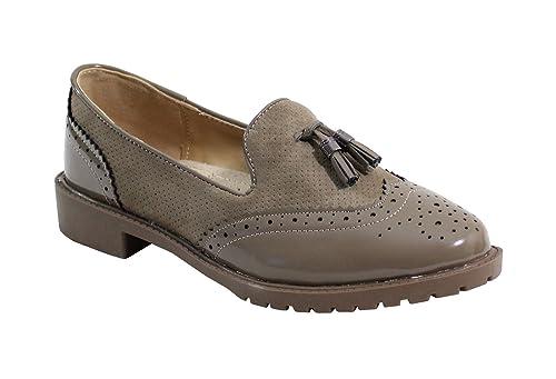 Chaussure Style Derby , No Name , Spéciale Été , Taupe , 36 EU