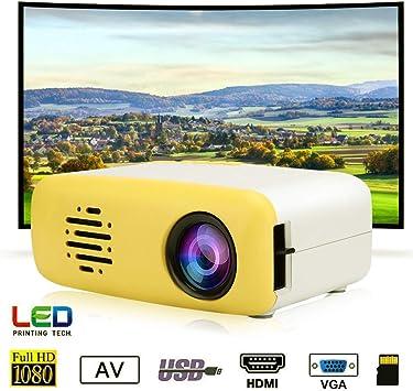 Garsent Proyector LED portátil, HD 1080P Soporte de proyector de ...