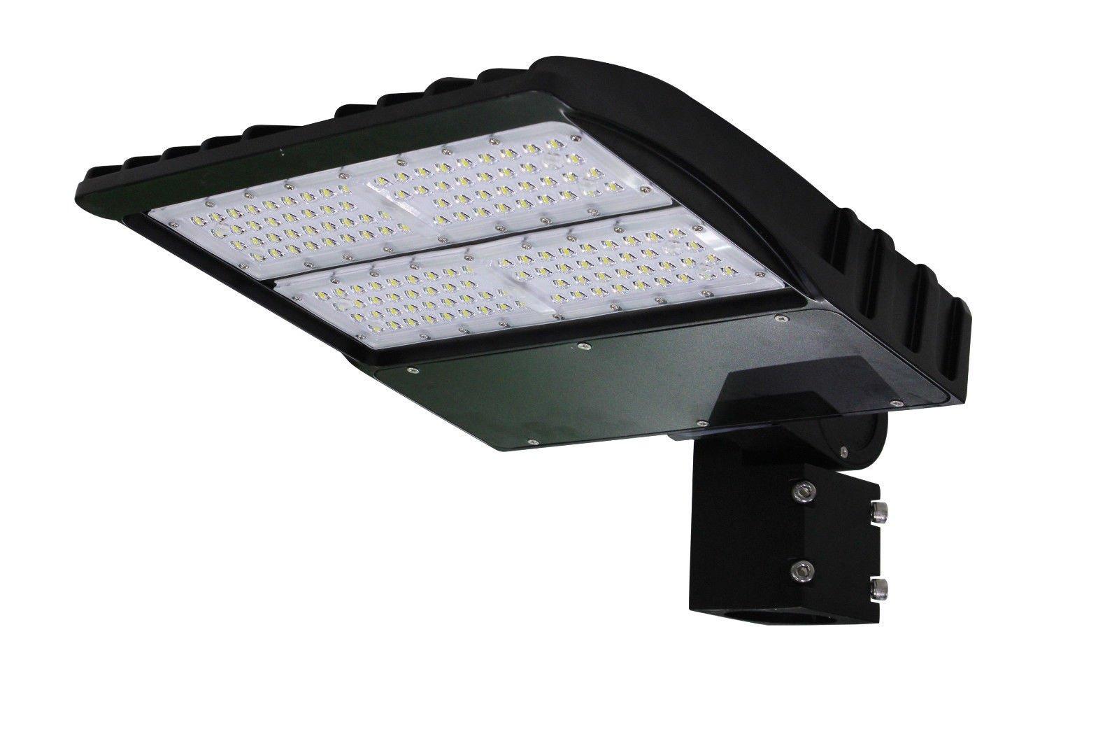 90w LED Parking Lot shoebox Light Fixture UL DLC approved - 5 years warranty Slip Fitter Adjustable Mount(AM)
