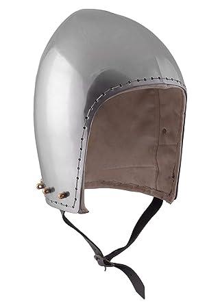Bacinete para combate de exhibición, 2 mm Acero Deko Casco schaukampftauglich Ritter Casco LARP Vikingo