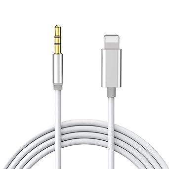 Auto AUX Kabel f/ür iPhone,AUX Kabel f/ür iPhone11//11 Pro//X//XR//XS//XS Max//iPhone 7//8//8plus//iPad//iPod,AUX Kabel Kompatibel mit auf Home//Auto-Stereoanlagen//Lautsprecher System//Kopfh/öreradapter,Wei/ß,1 Meter