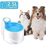 Iseebiz Fuente Gatos/Perros, Bebedero Automatico para Mascota con Gran Capacidad de 2.5litro Dispensador de…