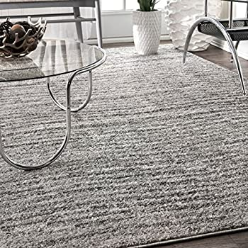 nuLOOM 200BDSM01A-508 Ripple Contemporary Sherill Area Rug, 5' x 8', Grey, Gray