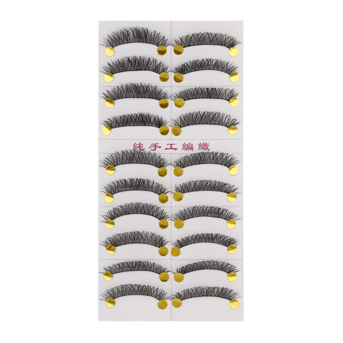M14 Handmade False Eyelash Janpanese Style Pure Manual Long Thick Messy 10 Pairs Popular Beauty Tool for Women Makeup SeniorMar