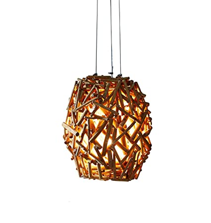 Othentique Driftwood Ball Pendant Lamp Rustic Hanging Ceiling