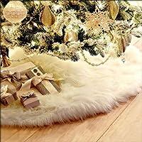 Gulin Falda de árbol de Pelusa Larga Blanca