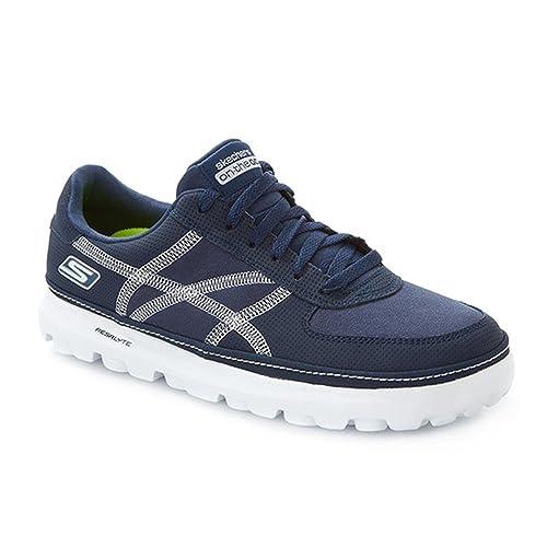 Skechers - zapatilla baja hombre , color azul, talla 38,5 EU: Amazon.es: Zapatos y complementos