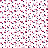 SheetWorld Fitted Portable / Mini Crib Sheet - Hearts - Made In USA
