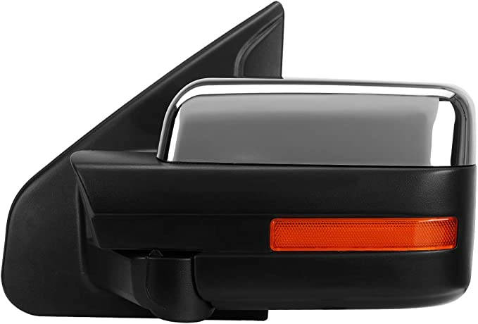 DNA MOTORING TWM-019-T666-CH-AM-L Towing Side Mirror Assembly Left Side Only