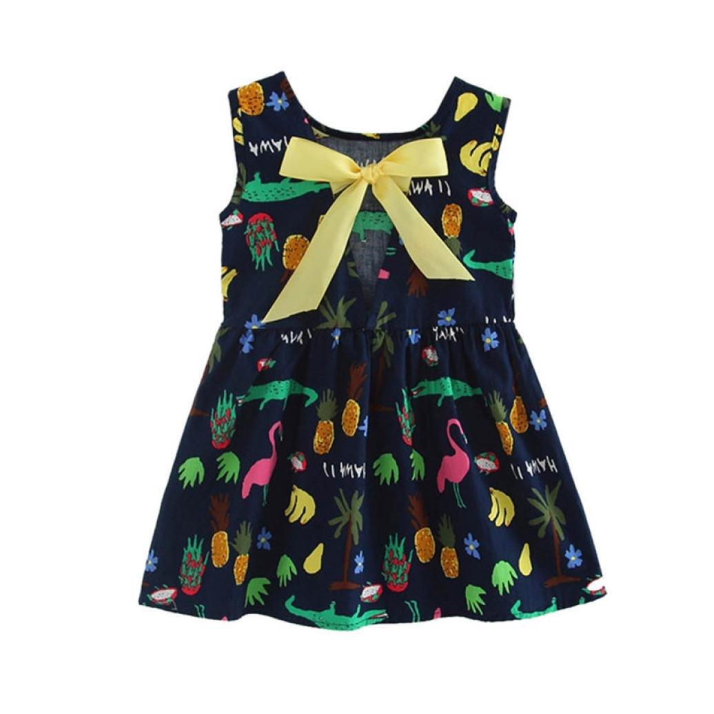 Hirolan Madchen Prinzessin Kleid Kinder Party Hochzeit Armellos Kleid Baby Rocke Suenaacampo Com