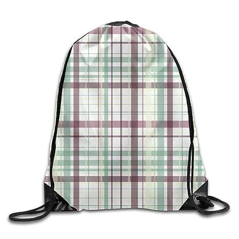 2f051b382 Amazon.com | Drawstring Backpack Gym Bag Travel Backpack, Check Fashion  Design, Canvas Drawstring Bags For Teen Kids | Drawstring Bags