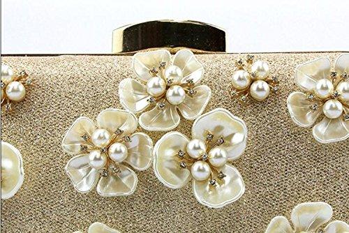 Main Sac Ladies WenL Flower Clutch Silver Fashion Dinner à D'épaule aEwPPdq