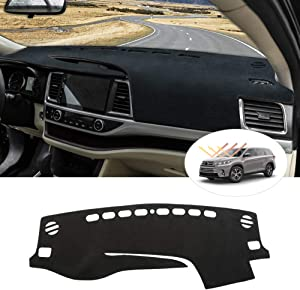 Cartist Highlander Dashboard Mat Cover Dash Cover Nonslip Dashboard Mat Protector Sunshade No Glare for Toyota Highlander 2014 2015 2016 2017 2018 2019
