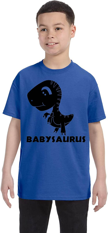 Allntrends Kids Youth T Shirt Baby Saurus Dinosaur Gift Matching Family Tees