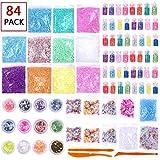 Slime Supplies Kit, 84 Packs Slime Beads Charms