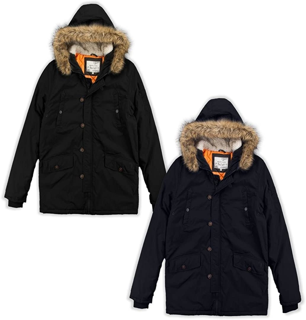 Brave Soul Kids Boys Parka Shower Proof Kids Winter Jacket