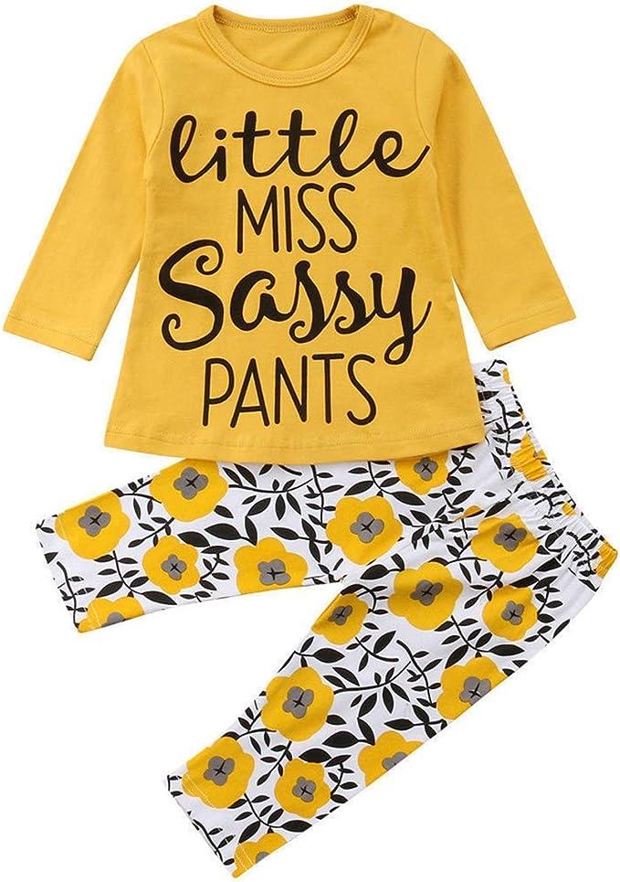 OKlady - Conjunto de ropa de verano para bebé niña con estampado ...