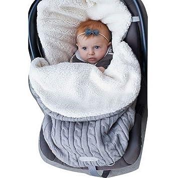 Newborn Baby Winter Wrap Swaddle Blanket Knit Sleep Bag Stroller Sleep Sack HZ