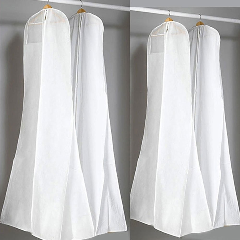 Merssavo Wedding Evening Dress Gown Garment Storage Cover Bag Protector Breathable Cover Storage Bag 180cm