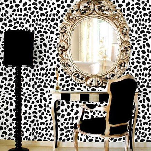 (Leopard Skin Pattern Stencil - Large)