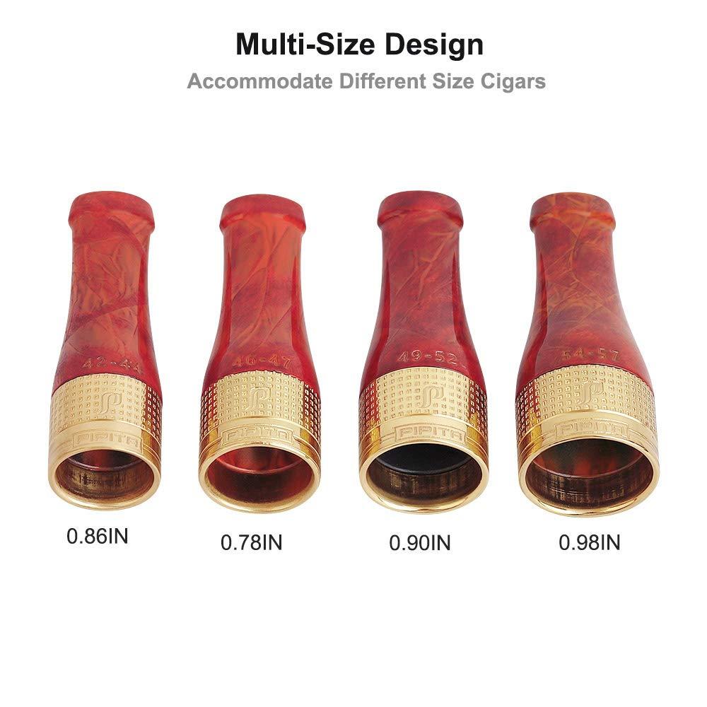 PIPITA Bocchini per sigarette set di pipa nero portasigari in rame puro resina bocchino corto ugello in 4 misure