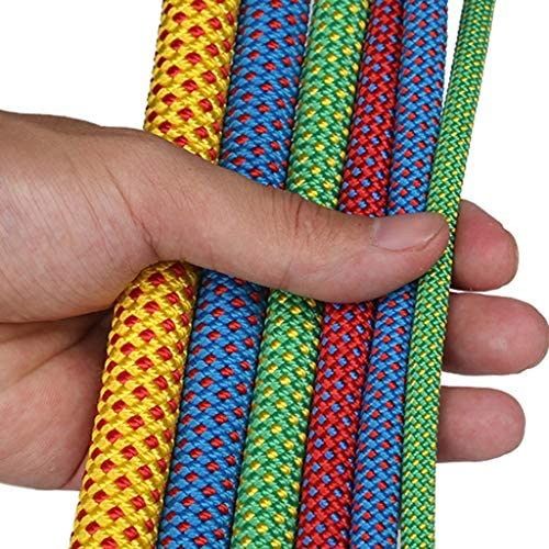 ZHWNGXO Parachute Seil, Durchmesser 6 mm Sicherungsseil Robust und langlebig Leichtgewichtler Enge Weaving Geeignet for Camping (Color : Green, Size : 70m)