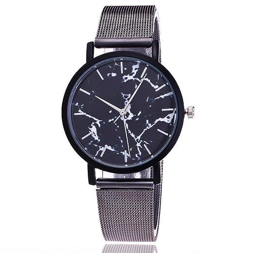 Womens Wristwatch, Hmlai Fashion Casual Quartz Stainless Steel Band Mesh Bracelet Watch Marble Strap Watch