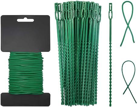 Twist Wire Fiber Coated Flexible Plant Soft Ties Growth Support Organiser Garden