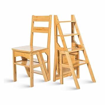 Escalera Plegable Escalera para sillas Taburete de Madera ...