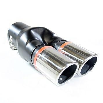 Autohobby 0077 - Embellecedor de tubo de escape, universal, silencioso, doble tubo de