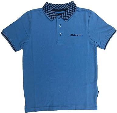 Ben Sherman Polo Azul Camiseta Cuello de Cuadros Siglos 7 Años - 8 Años - Azul, 14-15 Años / 164-170cm: Amazon.es: Ropa y accesorios