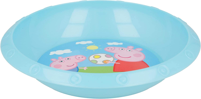 Peppa Pig Hard Plastic Bowl Hollow Plate 22 cm Pink