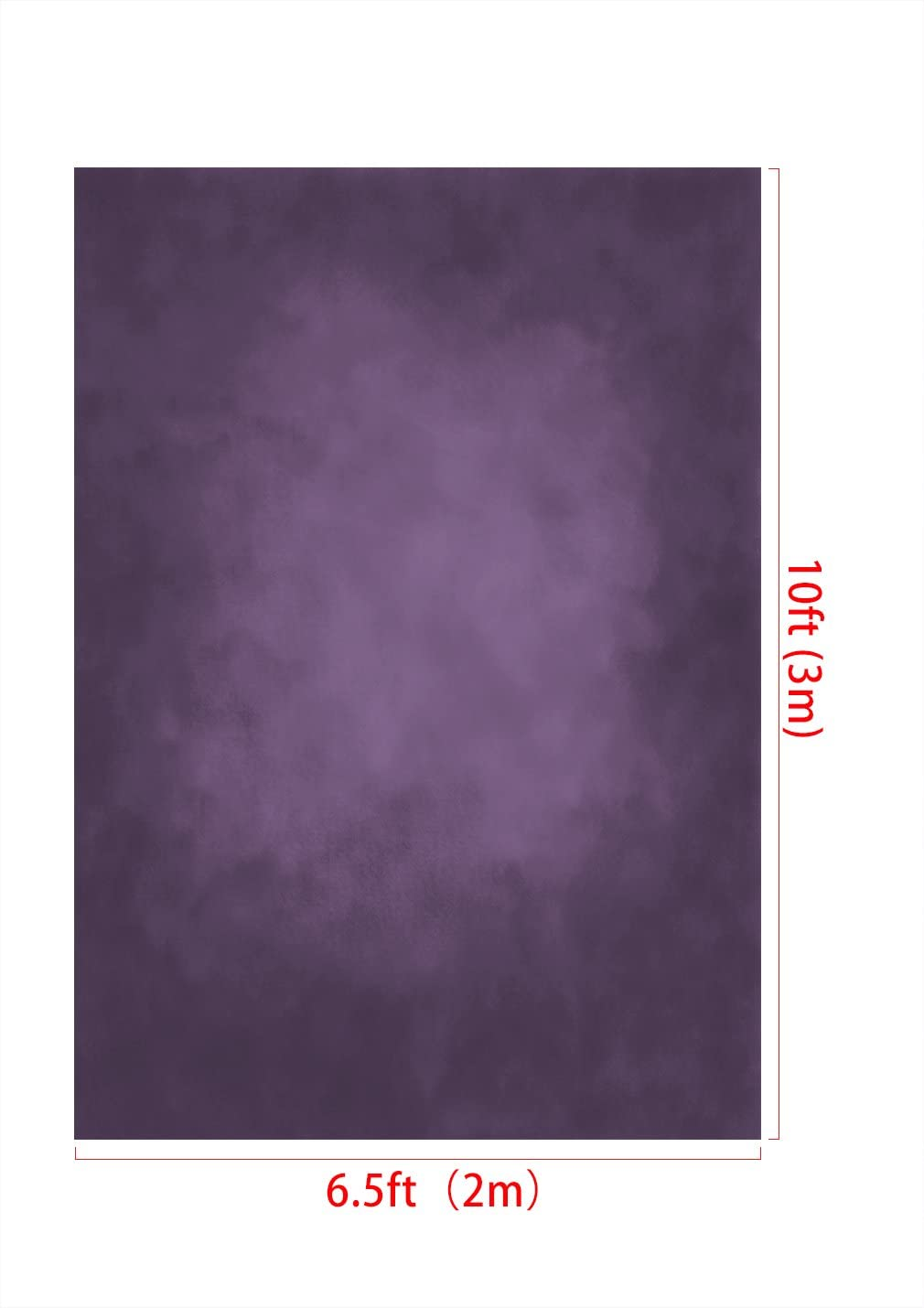 Kate 6.5x10ft Backdrop for Abstract Personal Portrait Microfiber Solid Color Purple Photography Background