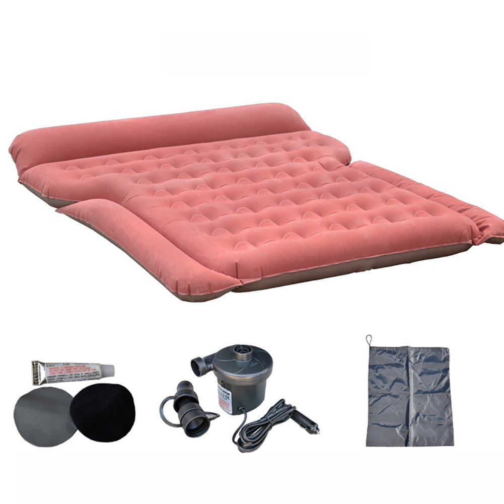 Inflatable Mattress Auto-Reise-aufblasbares Kissen, SUV-Auto Dedicated Intimate Sports Schlaf-Ruhe, eingebaute Luftpumpe-Leichte Bequeme Lagerung Nimmt Nicht Platz, Zwei Farben Sind verfügbar.