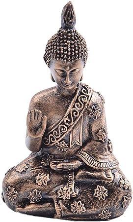 Quiet.T Resina Buda, Estatua Resina Jardín Buda Retro Buda Estatua Meditando Buda Estatua Ornamento De Jardín Estatua: Amazon.es: Hogar