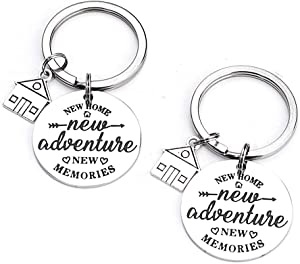 FY New Home Keychain First Home Gift New House Keychain Housewarming Realtor Closing Gifts (2 Pack) (New Adventure)