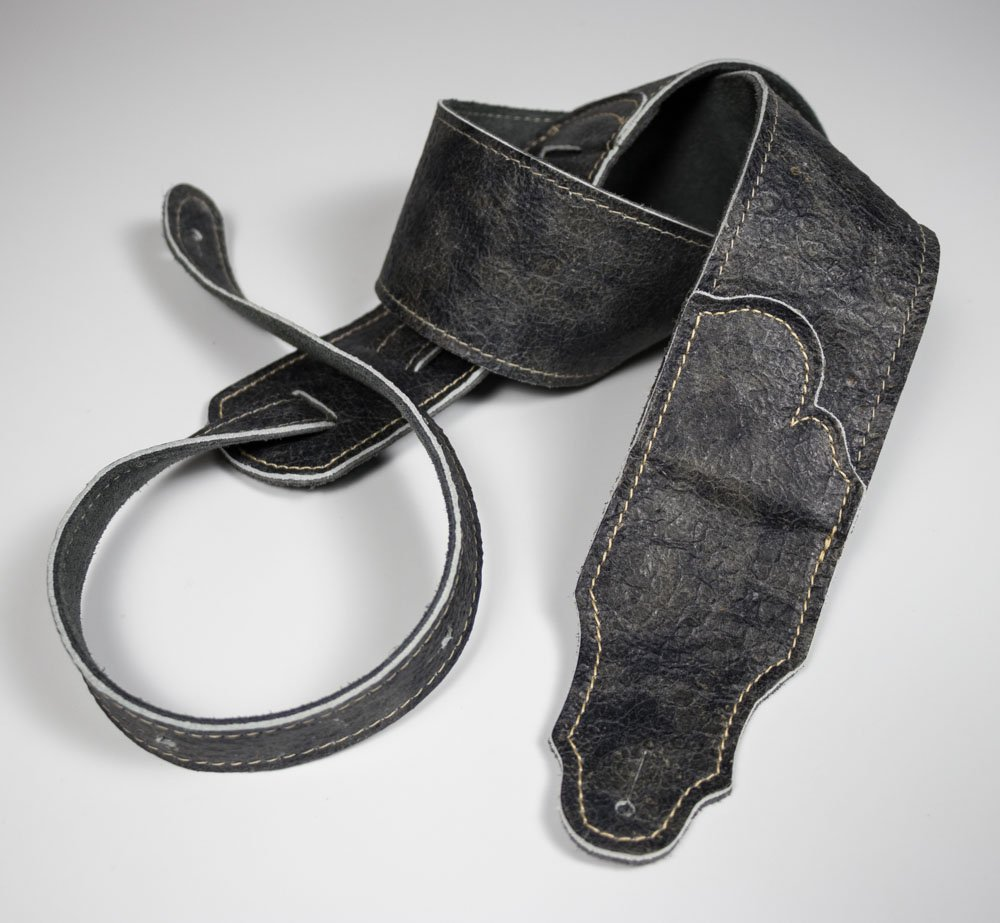 Roadhouse Distressed Leather Guitar Strap (Slate)