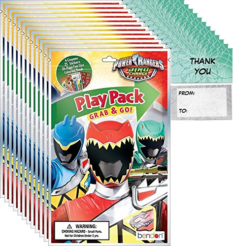 Bendon Power Rangers Grab n Go Play Packs (12 Pack) Party Favors and 12