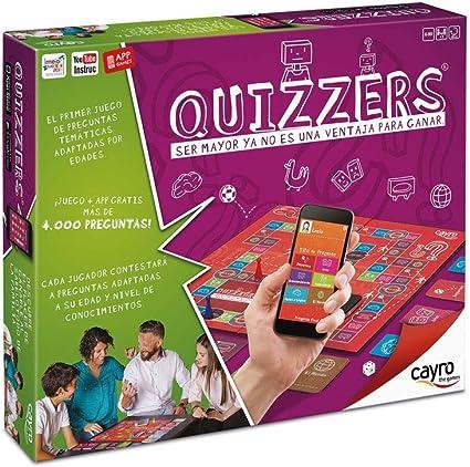 Cayro - Quizzers - Juego de Cultura General - Juego de Mesa - Desarrollo de Habilidades cognitivas e inteligencias múltiples - Juego de Mesa (716): Amazon.es: Oficina y papelería