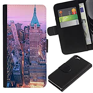 For Apple Apple iPhone 6(4.7 inches),S-type® Ny Nyc New York Architecture Building - Dibujo PU billetera de cuero Funda Case Caso de la piel de la bolsa protectora