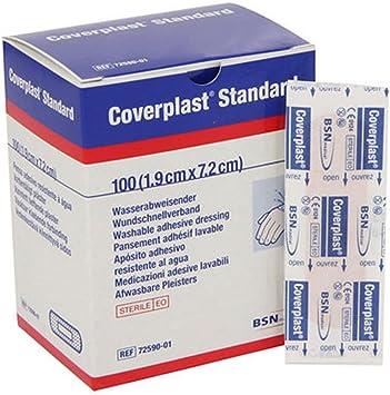 Tiritas Plástico Coverplast Standard 7cm x 2 cm-Caja 100 u: Amazon.es: Salud y cuidado personal