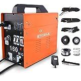 ETOSHA MIG 160 Welder Portable Flux Core Wire Gasless Automatic Wire Feeding Welder,160A ARC Welder Machine with Welding Gun,