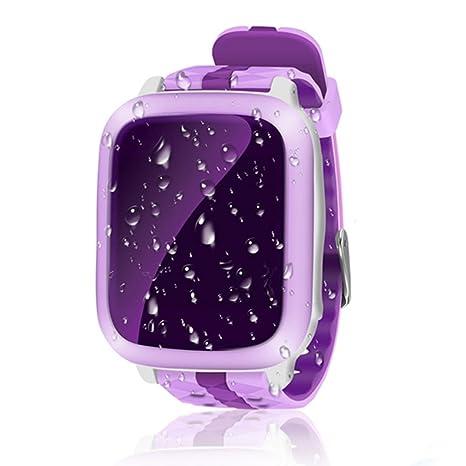 Reloj inteligente para niños, reloj inteligente Hinmay GPS Tracker para niños impermeable 1,44 pulgadas en ...