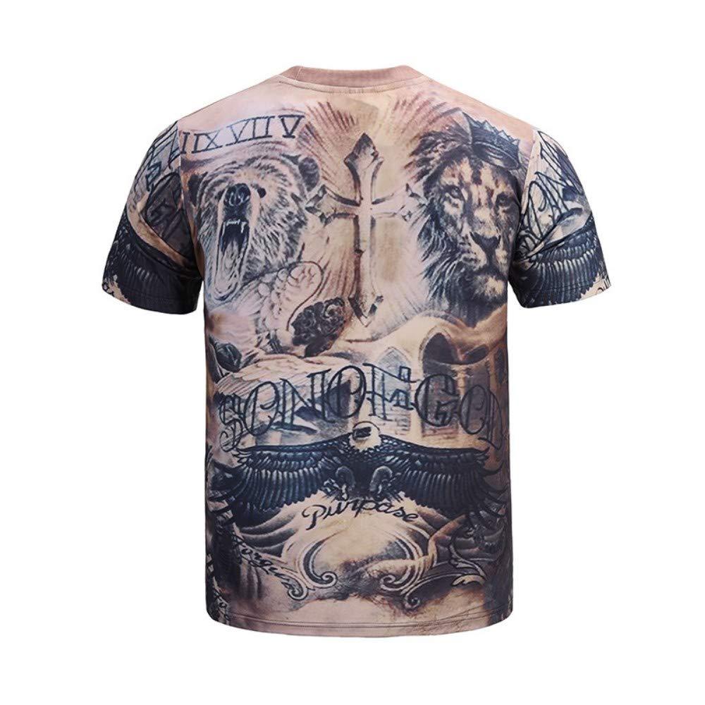 Novedad para Hombres/Mujeres Camiseta Informal Moda Animal 3D ...