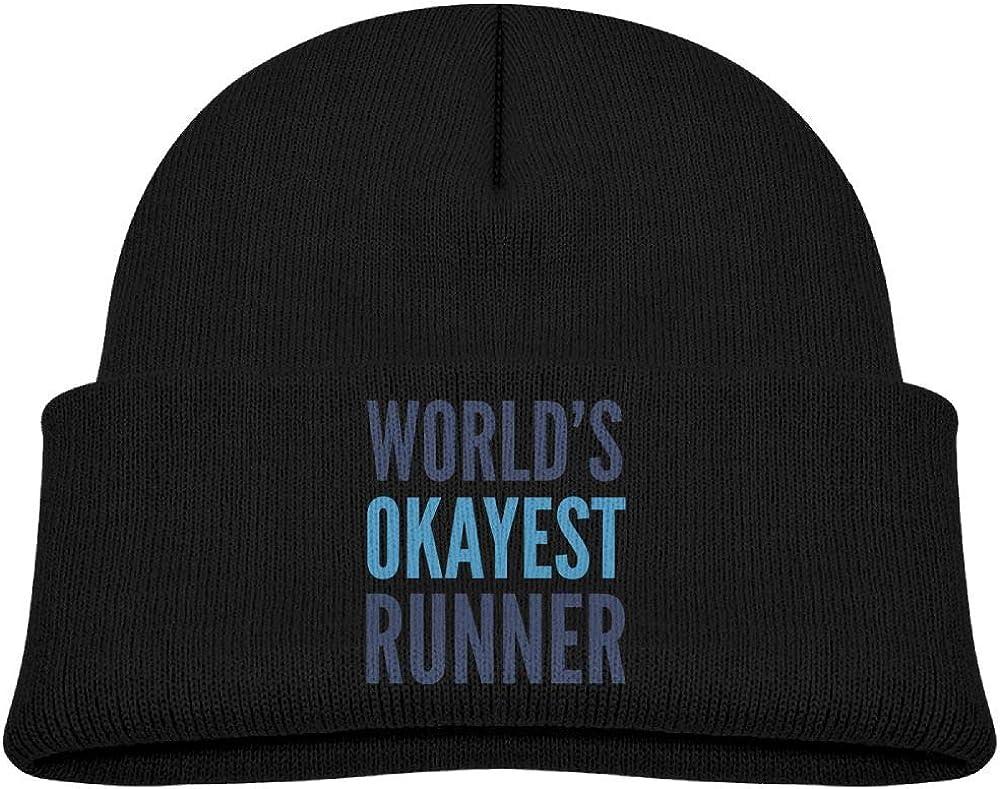 Fzjy wnx Worlds Okayest Runner Wool Knit Hat Trendy Unisex 0-3 Old