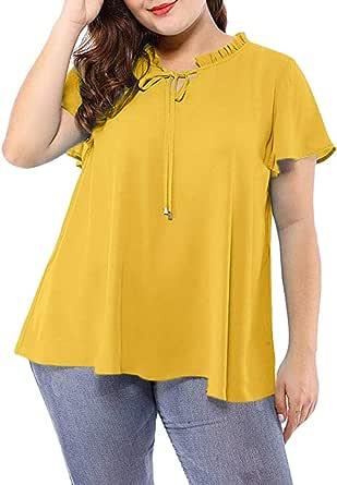 Fossen Camisas Mujer Tallas Grandes de Punto Arco ...